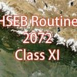 HSEB Exam Routine 2072 (2015) – Class 11