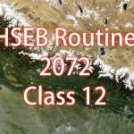 HSEB Exam Routine 2072 (2015) – Class 12