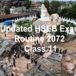 Updated HSEB Exam Routine 2072 (2015) – Class 11