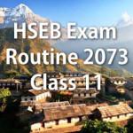 HSEB Exam Routine 2073 (2016) – Class 11