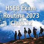 HSEB Exam Routine 2073 (2016) – Class 12
